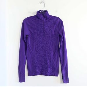 Charlie Paige workout half zip long sleeve top S